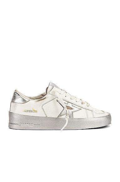 Golden Goose Stardan Sneaker in Metallic Silver