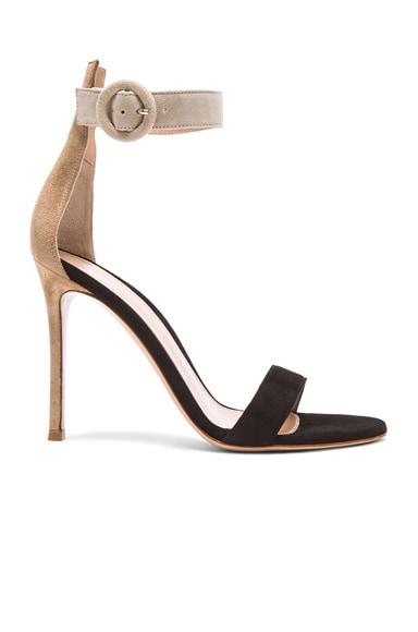 Tri Color Suede Portofino Sandals