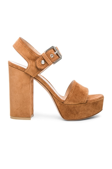 Suede Gina Platform Sandals