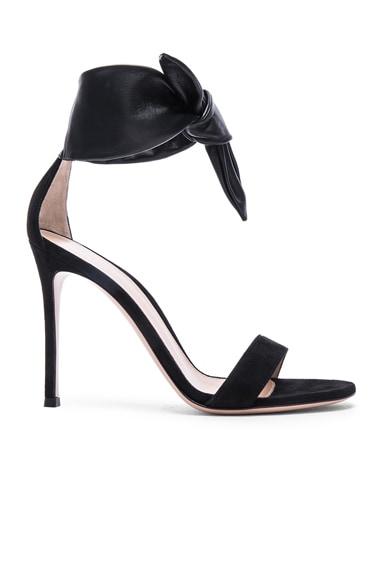 Suede & Leather Bandana Heels