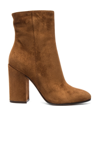 Suede Rolling High Booties