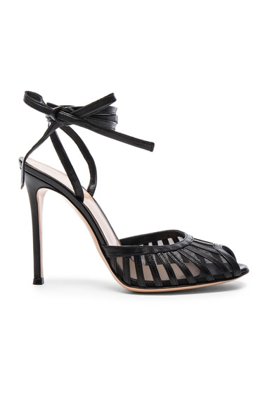 Leather Tie Ankle Heels