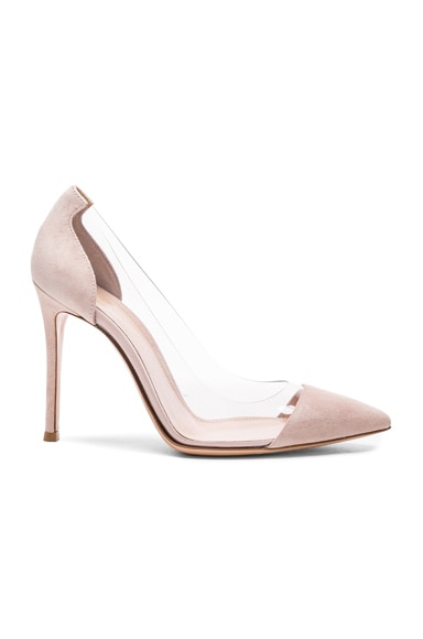 Suede & Plexi Pumps