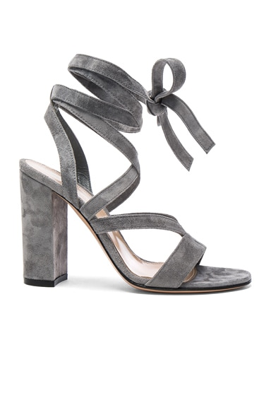 Suede Janis High Sandals in Fumo