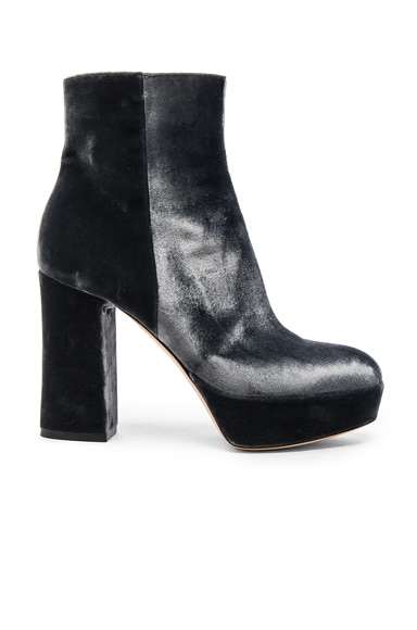 Velvet Foley Platform Booties
