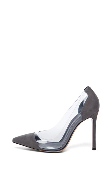 Plexy Suede Laser Pump