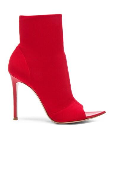 Osaka & Leather Gotham Peep Toe Ankle Boots