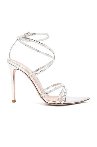Metallic Leather Kim Cross Strap Sandals