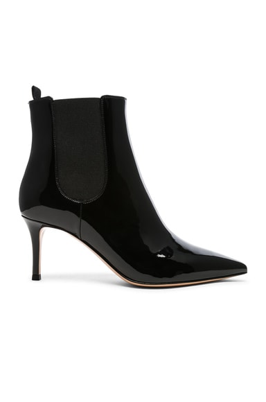 Patent Leather Evan Stiletto Ankle Boots