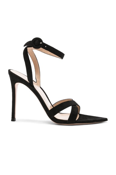 Suede Alixia Ankle Strap Sandals