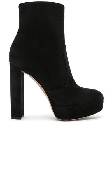 Suede Brook Platform Ankle Boots