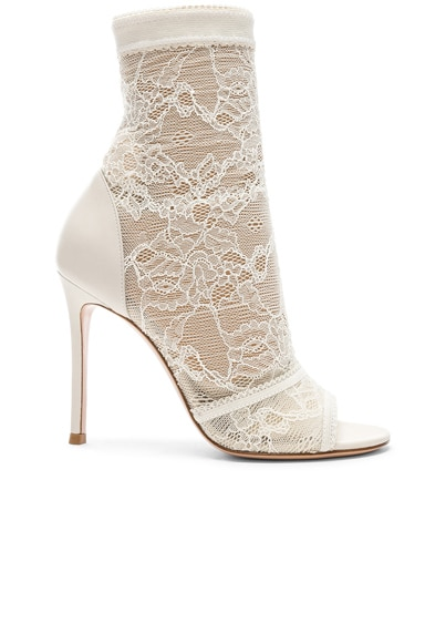 Pizzo Stretch Nappa Ankle Booties