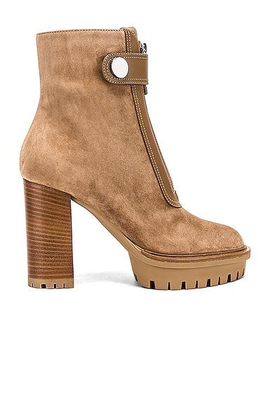 Julian Zipper Ankle Heel Boots
