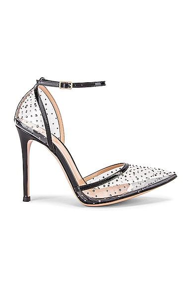 Polka Dots Ankle Strap Heels