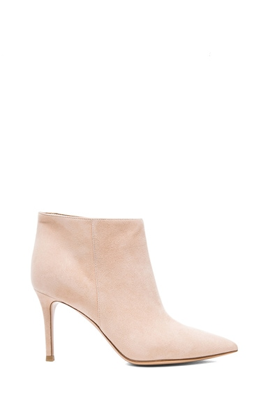Pointed Suede Ankle Booties
