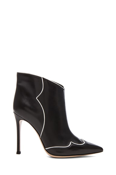 Annie Leather Ankle Booties