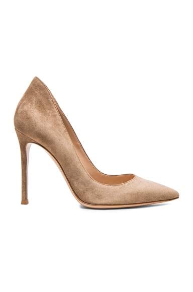 Suede Ellipsis Pumps