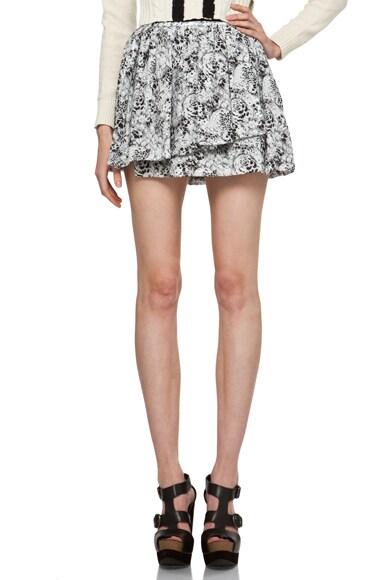 Short Gathered Skirt