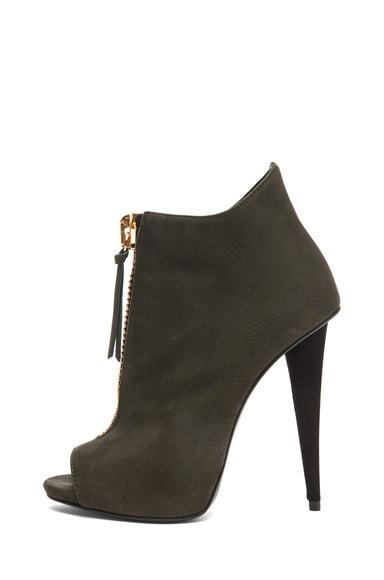 Suede Zip Up Ankle Boot