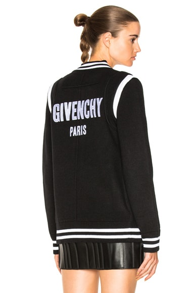 Logo Back Knit Bomber