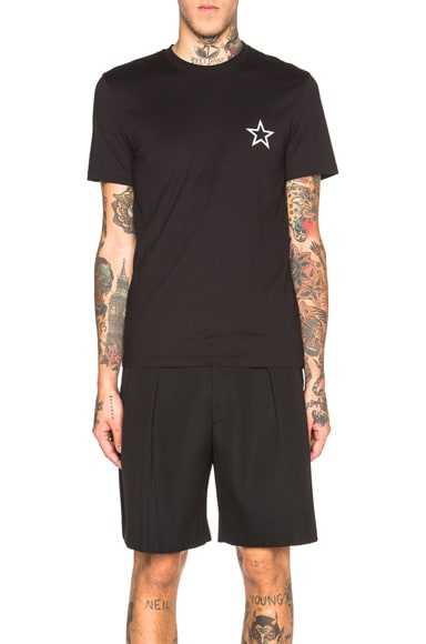 Star Embroidery Pocket Tee