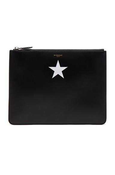 White Star on Leather Pouch