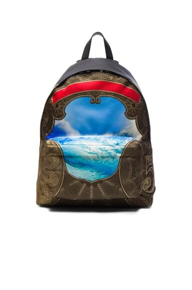 Wave Print Backpack