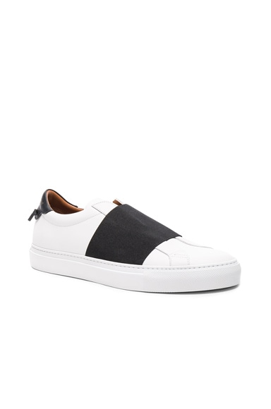 Strap Leather Sneakers