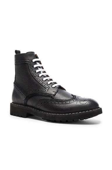 Leather Wingtip Boots