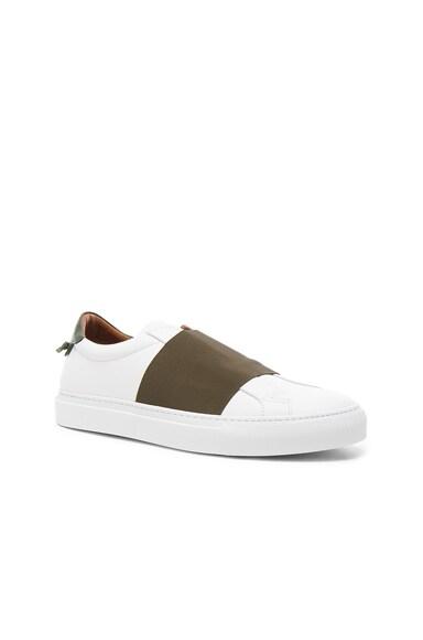 Leather Skate Elastic Sneakers