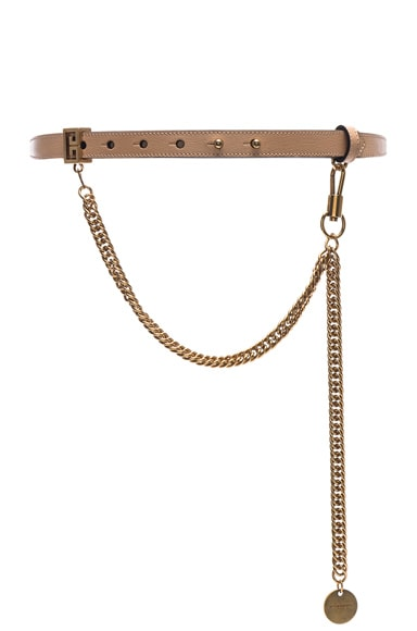 Shiny Leather One Buckle Belt
