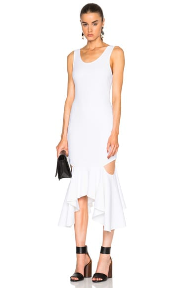 Asymmetrical Dress with Slashes