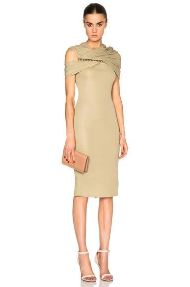 Jersey Off Shoulder Dress