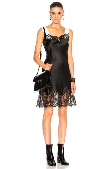 Silk Satin Lace Dress