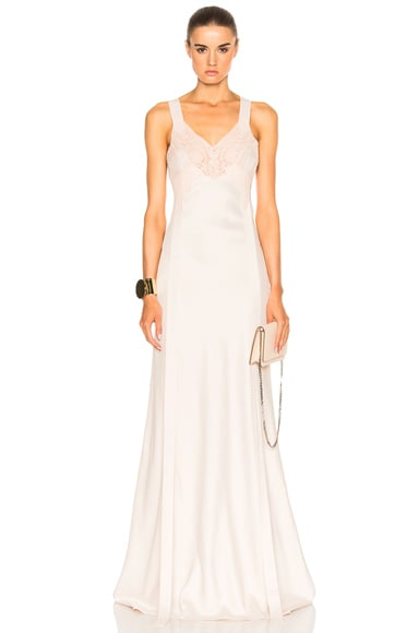 Lace Silk Gown