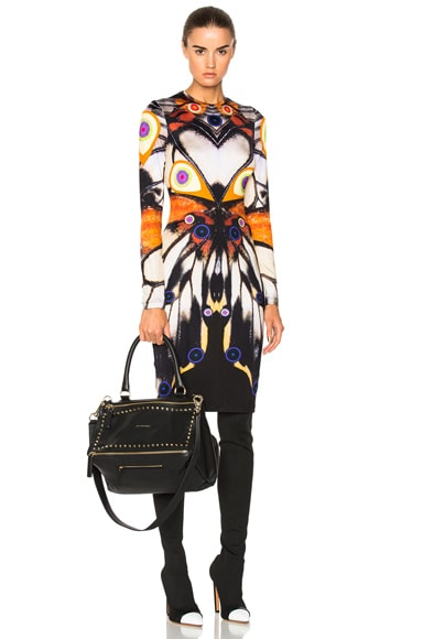 Butterfly Print Long Sleeve Dress