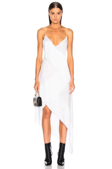 Tiered Fringe Slip Dress