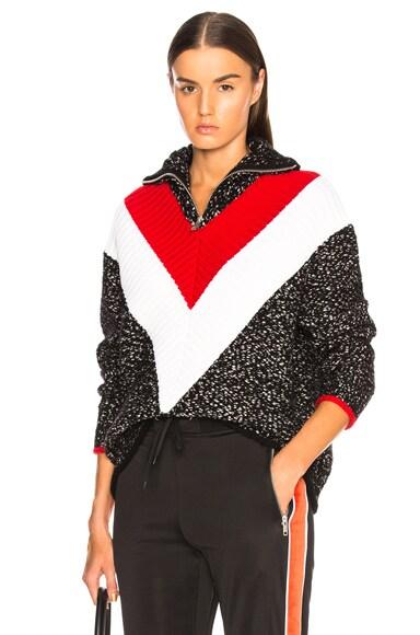 Textured Quarter Zip Sweater