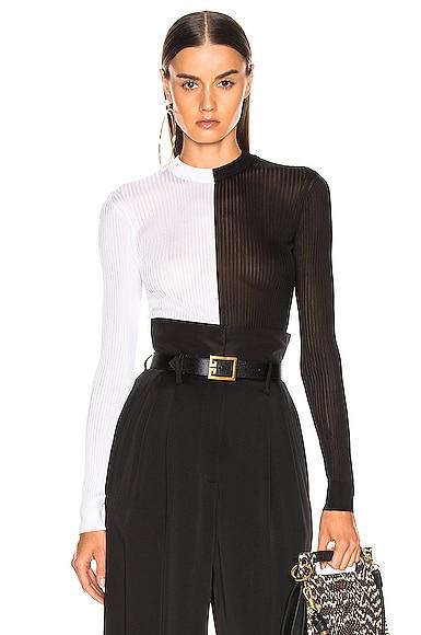 Colorblock Rib Sweater