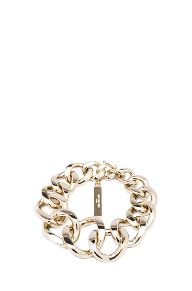 Asymmetrical Brass Chain Bracelet