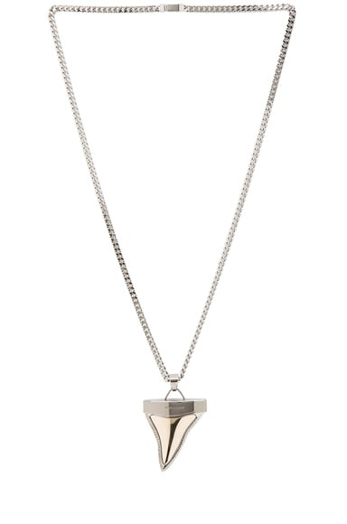 Large Metal Shark Tooth Necklace