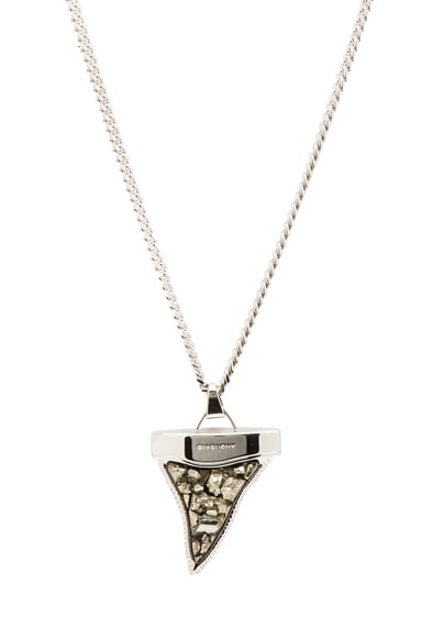 Large Stone Shark Tooth Necklace