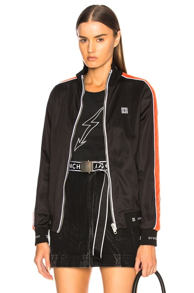 Technical Neoprene Jersey Side Stripe Bomber