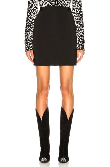 Knit Seamed Mini Skirt