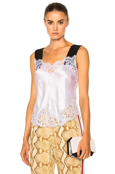 Silk Satin Lace Tank
