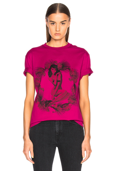 Pin Up Printed Graphic Tee