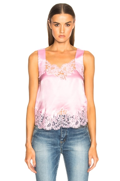 Satin Lace Trim Tank