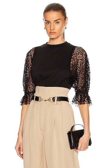 Lace Sleeves Top