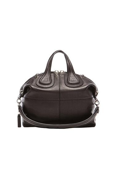 Waxy Leather Medium Nightingale with Studs