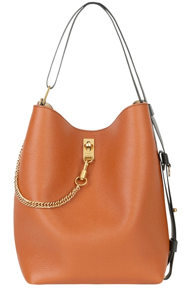 Medium Leather GV Bucket Bag